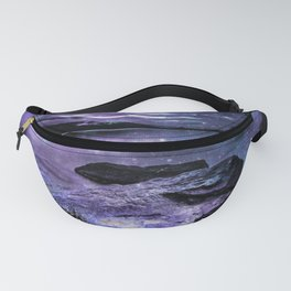 Magical Mountain Lake Purple Teal Fanny Pack