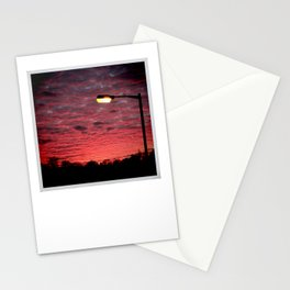 British Winter Sunset Stationery Cards