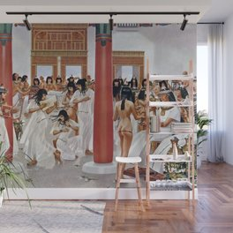 """Classical Masterpiece """"The Court of Pharaoh and the High Priestess"""" by H.M. Herget Wall Mural"""