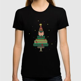 I present you with a Christmas tree T-shirt