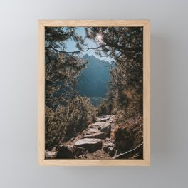 On the trail - Landscape and Nature Photography Framed Mini Art Print