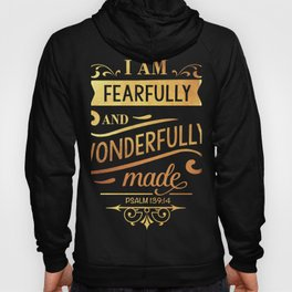 Fearfully And Wonderfully Psalm 139:14 Christian Religious Blessed Hoody