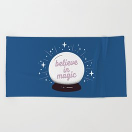 "Crystal ball ""believe in magic"" Beach Towel"