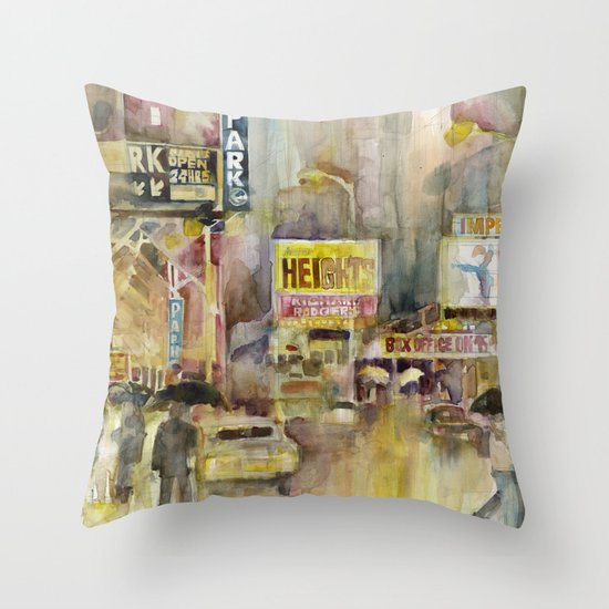 Broadway,  New York Throw Pillow
