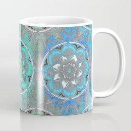 Mint Green, Blue & Aqua Super Boho Medallions Coffee Mug