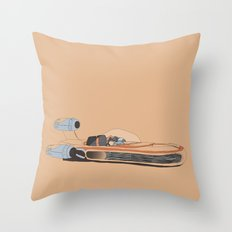 X-34 Landspeeder Throw Pillow