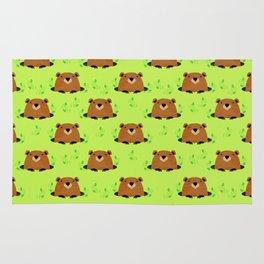 Adorable Groundhog Pattern Rug