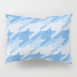 Blue Monochrome Houndstooths Pillow Sham