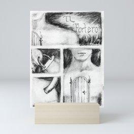 El Portero - Surreal Draw - Psychological Visual Story Mini Art Print