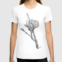 magnolia T-shirts featuring Magnolia by Helena Areman