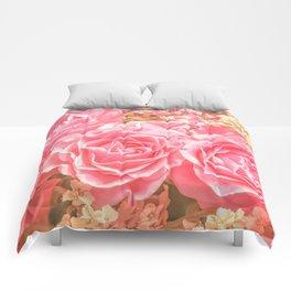 Elegant Pink Roses Comforters