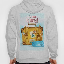 Travel Concept With Suitcase Hoody