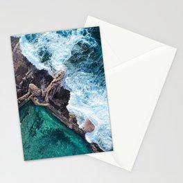 Aqua Ocean Rock Pool Stationery Cards