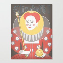 Queen Elizabeth I Portrait Canvas Print