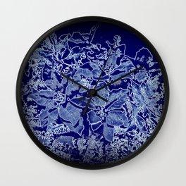 Christmas Bouquet (blue-purple) Wall Clock