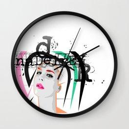 Lana Urban Street Portrait Wall Clock
