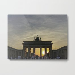 Brandenburg Gate, Berlin Metal Print