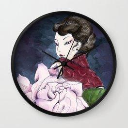 Lead a voluptuous life Wall Clock