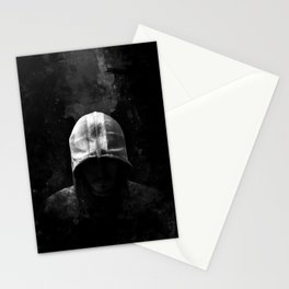 Modern Assassin Hood - B&W Stationery Cards