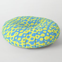 Brain Coral Blue Small Polyps - Coral Reef Series 026 Floor Pillow