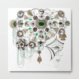 Mandala Headdress Metal Print