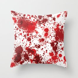 Blood Splatter Throw Pillow