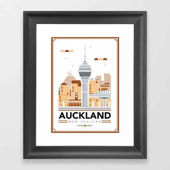 City Illustrations (Auckland, New Zealand) Framed Art Print