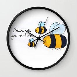 Bees!!! Wall Clock