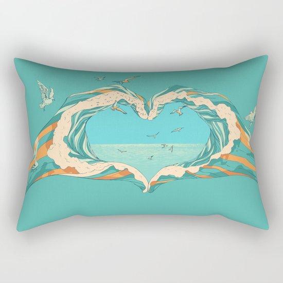 My Heart & The sea Rectangular Pillow