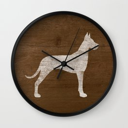 Great Dane Silhouette(s) Wall Clock
