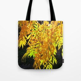 Abstract Golden Foliage Tote Bag