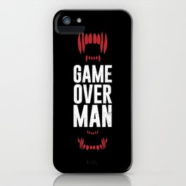 Game Over Man iPhone Case