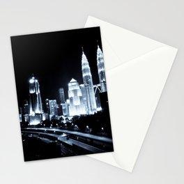 Kuala Lumpur night Stationery Cards