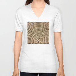 Circular Waves. Fashion Textures Unisex V-Neck
