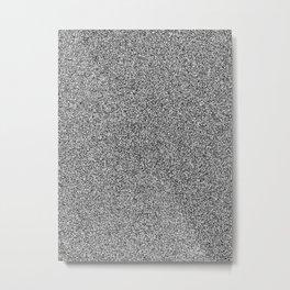 Melange - White and Black Metal Print