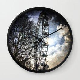 London Eye Dramatic Art Wall Clock