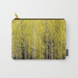 Lovely spring atmosphere - vibrant green leaves on the trees - beautiful birch grove #decor #society Carry-All Pouch