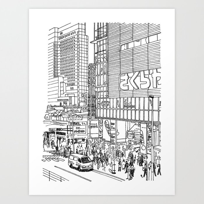 Tokyo - Shinjyuku Art Print