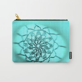 Oil on rock -- turquoise Carry-All Pouch