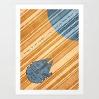 millenium falcon Art Prints featuring Millenium Falcon by Szoki