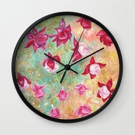 Fuchsias Wall Clock