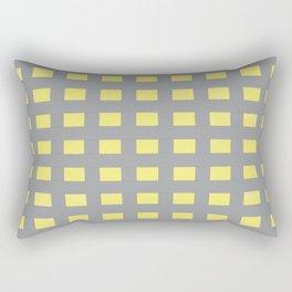 Grey & Yellow Gingham Design | Digital Design | Pattern Rectangular Pillow