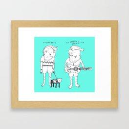 Jebba Characters 1 Framed Art Print