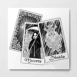 Death and the Devil Metal Print