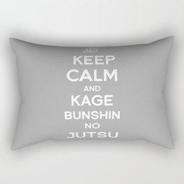 Keep Calm and Kage Bushin No Jutsu Rectangular Pillow