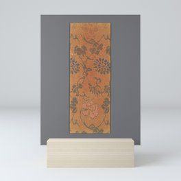 Sutra Cover with Various Flowers and Leaves with Scrolling Stems Mini Art Print