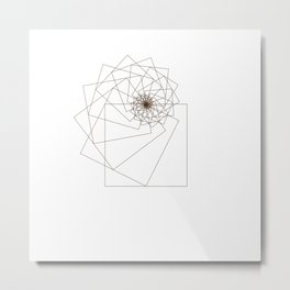 #338 Square attractor – Geometry Daily Metal Print