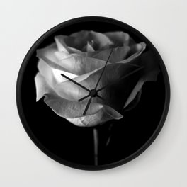 Dark Rose Wall Clock