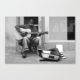Street Musician Canvas Print