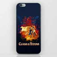 teen titans iPhone & iPod Skins featuring Titans by CromMorc